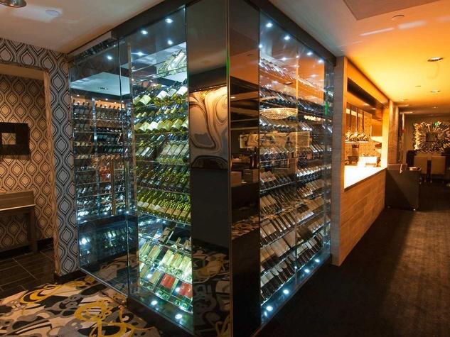 Morton's, renovations, June 2012, wine room