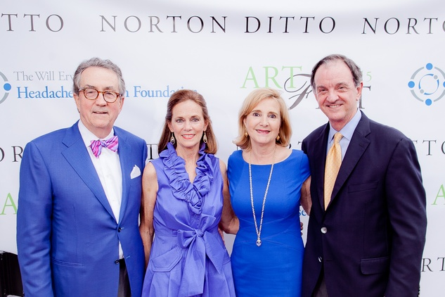 Dick and Ginger Hite, from left, and Pam and Jimmy Erwin at the Norton Ditto ArtFest April 2015