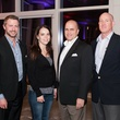 Brett Dougall, Kara Holcomb, Eddie Hale and Ken Grantzer, the partners card party at museum tower