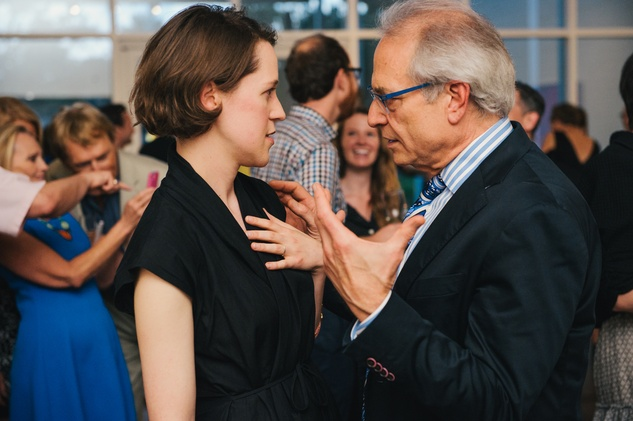 Susan Sutton and Mickey Rosmarin at the Charles James exhibit preview party at the Menil June 2014