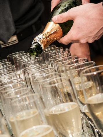 Neiman Marcus, men's event, Matthew Singer, September 2012, champagne