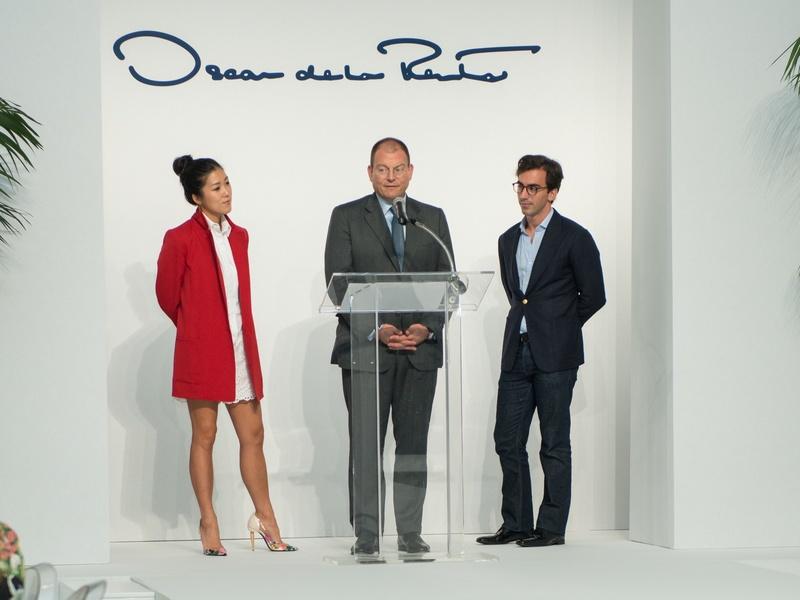 Laura Kim, Alex Bolen, Fernando Garcia at Oscar de la Renta fashion show at MFAH