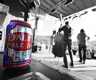 Oskar Blues Brewering Dale's Pale Ale beer can live music concert stage 2015