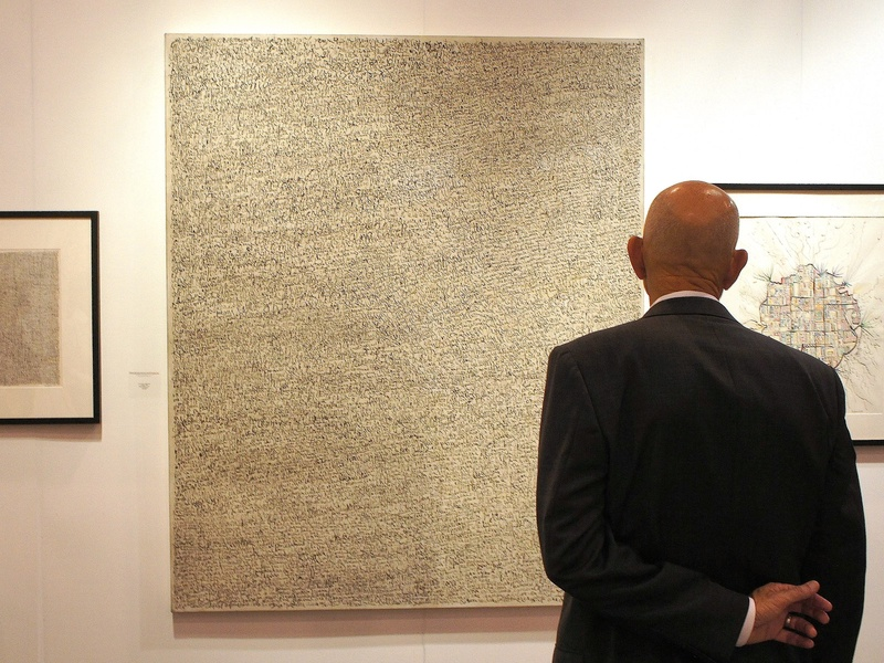 Houston Fine Arts Fair, opening night artwork, September 2012, Leon Ferrai, Untitled, 1998, mixed media on wood, Pan American Art Projects, Miami