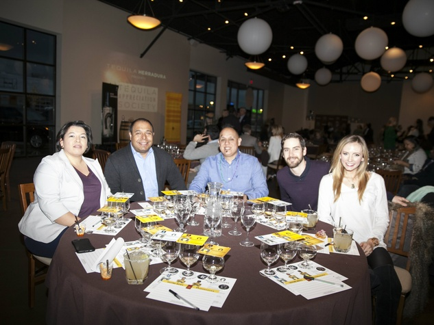 Victor Calzada, Yajaira Arenas, Mike Bravo, Casey Bunch and Taylor Bunch at Tequila Appreciation Society