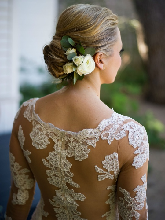 Katie Van Dyk Ben Nelson real wedding-back of gown