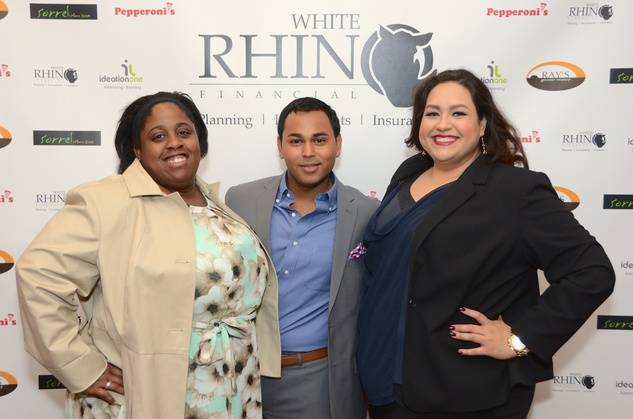 67 Kelser McMiller, from left, Clint Sosa and Laurel Flores at the Red Carpet Soiree November 2014