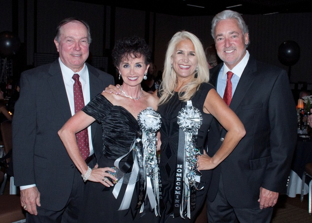 1 Bill and Lisa Schwartz, from left, Patty Busmire and Rick Wendland at the Spring Branch Education Foundation Gala October 2014