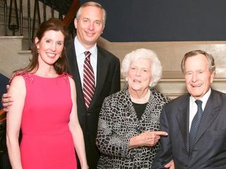 News_Phoebe Tudor_Bobby Tudor_Barbara Bush_George Bush