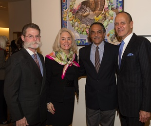 Tio and Janell Kleberg, from left, Kermit Oliver and Robert Chavez at Kermit Oliver at Hermès February 2014