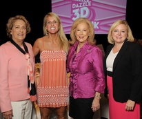 Memorial Hermann Razzle Dazzle lunch Honoree Mayor Pro Tem Ellen Cohen, author Elin Hilderbrand, Mary Ann McKeithan, Julie Voss