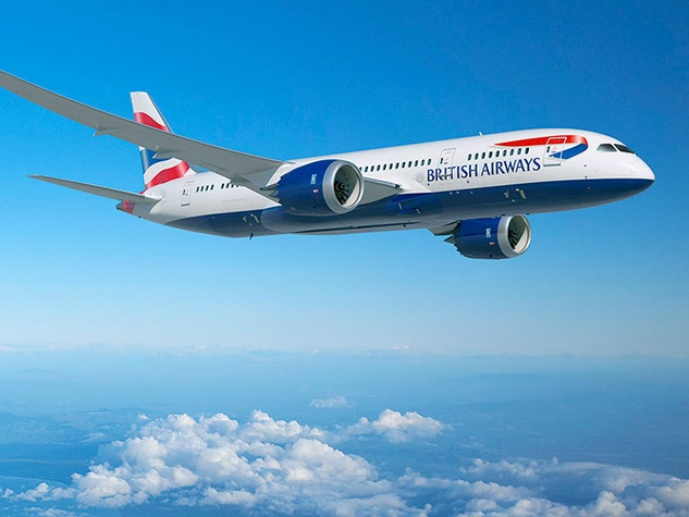 British Airways Boeing 787-9 Dreamliner airplane flight 2015