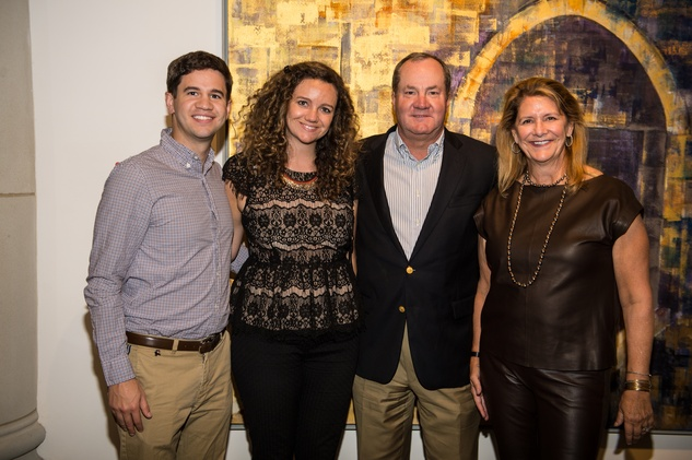 2626 Matthew Hines, from left, Laura Hines and Jeff and Wendy Hines at the Barbara Hines Art Opening in Dallas October 2014