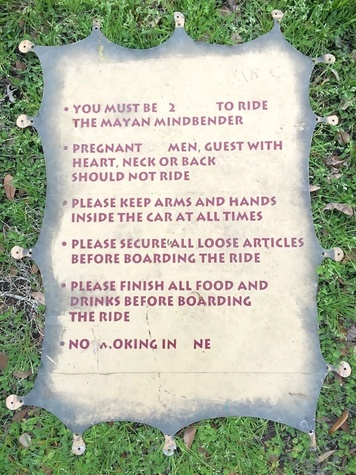 Astroworld Houston Mayan Mindbender rules plaque eBay March 2015