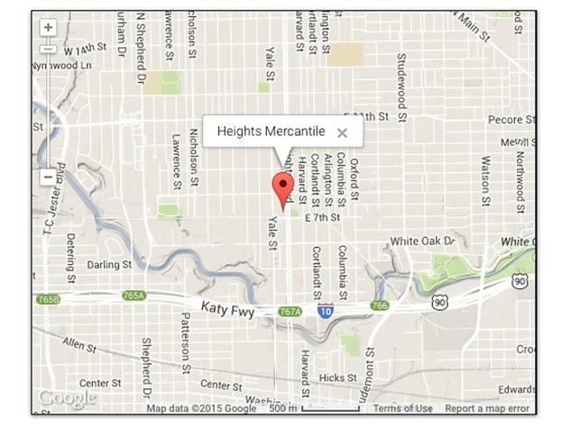 Heights Mercantile Google map February 2015