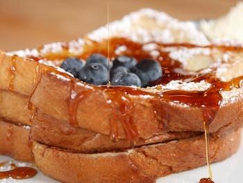 Adair Kitchen, French toast, blueberries