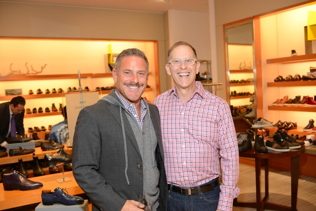 8 Joel Kalmin, left, and Stephen Goldberg at the Neiman Marcus Men's Fall Trend Event September 2014