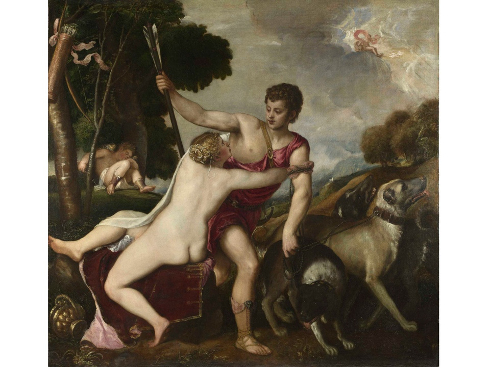 MFAH American Adversaries September 2013 Titian - Venus and Adonis
