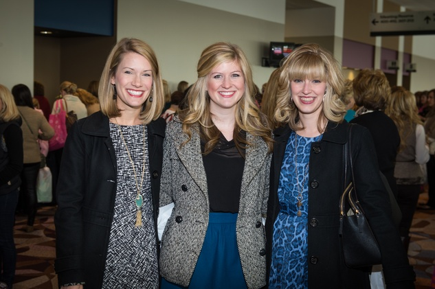 7 Jen Williford, from left, Ali Howard and Shelby Watson at the Nutcracker Market Macy's luncheon November 2014