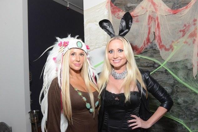 Angela Maria, left, and Lori Geshay at the Brasserie 19 Halloween party October 2014