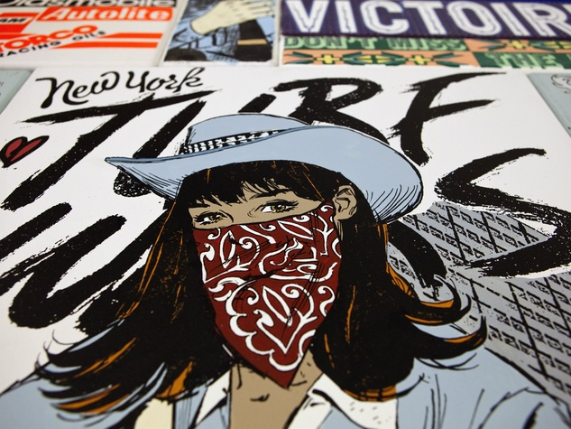 Detail of Faile for Dallas Contemporary