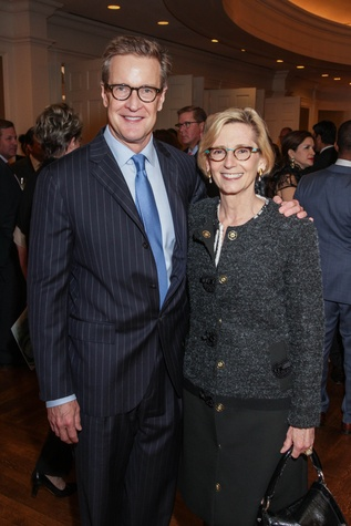 Ken Broughton and Fabine Welch at the Center for Houston's Future dinner November 2014
