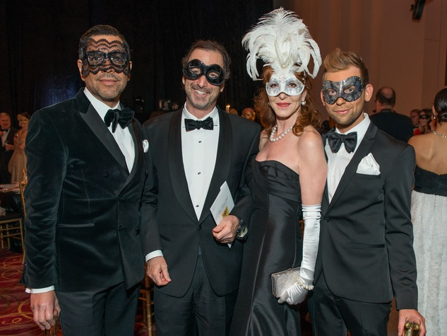 11 Ceron, Richard and Martha Finger, Taylor Hudgins at the Houston Ballet Ball February 2015
