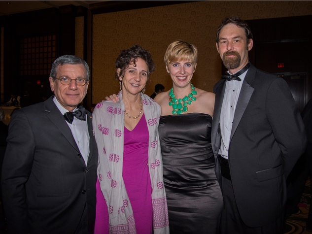 John Casbarian, from left, Natalye Appel and  India and Seth Mittag at the Rice Design Alliance Gala November 2013