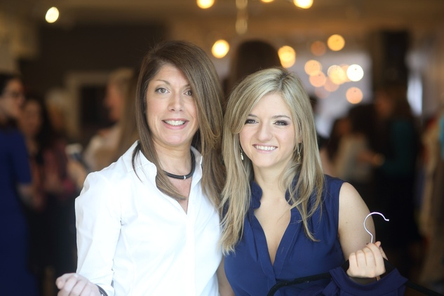 35 Lisa Powers, left, and Becca Kolker at the David Peck spring summer 2015 fashion show March 2015
