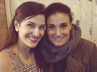 Sarah Elizabeth Smith and Idina Menzel