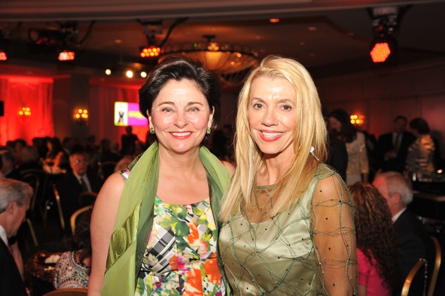 Beth Madison, left, and Marie Bosarge at the Houston Arts Alliance event with Rita Moreno May 2014