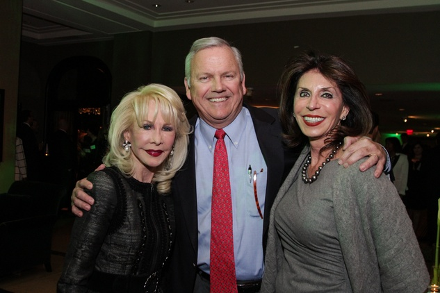 Diane Lokey Farb, from left, John Havens and Judith Oudt at the Knowledge Arts Foundation dinner November 2013