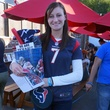 Sarah Dagostino at Friends for Life Texans TAILgate party November 2013