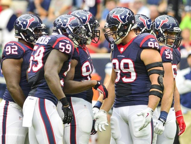 J.J. Watt Texans huddle