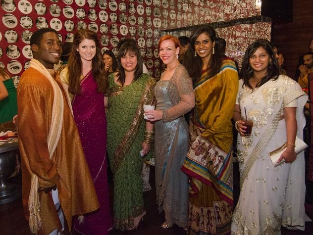 Stephen Doss, Alex Kiester, Ava Sanchez, Vija Mendelson, Shruti Shirhalti and Aditis at Bollywood Ball