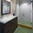 Encaustic tiles in bathroom