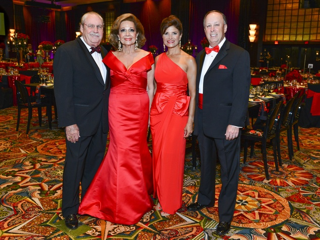 3 Arthur and Philamena Baird, from left, and Lori and Dan Wolterman at the Memorial Hermann Gala April 2014