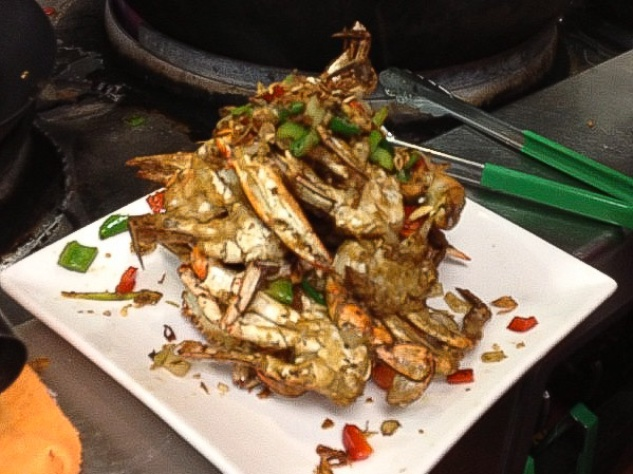 Andrew Zimmern, best blue crabs, Noodles and Crawfish, restaurant, November 2012