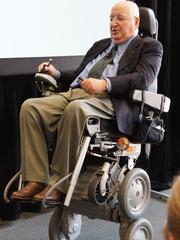 Michael Graves, September 2012, in wheelchair