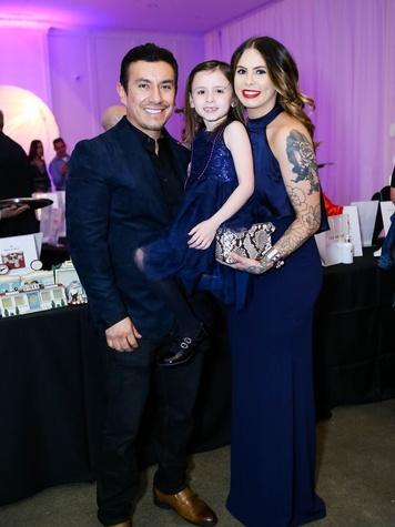 Ricardo, Jayda and Anna Gonzalez, Arthritis Foundation Mardi Gras Gala