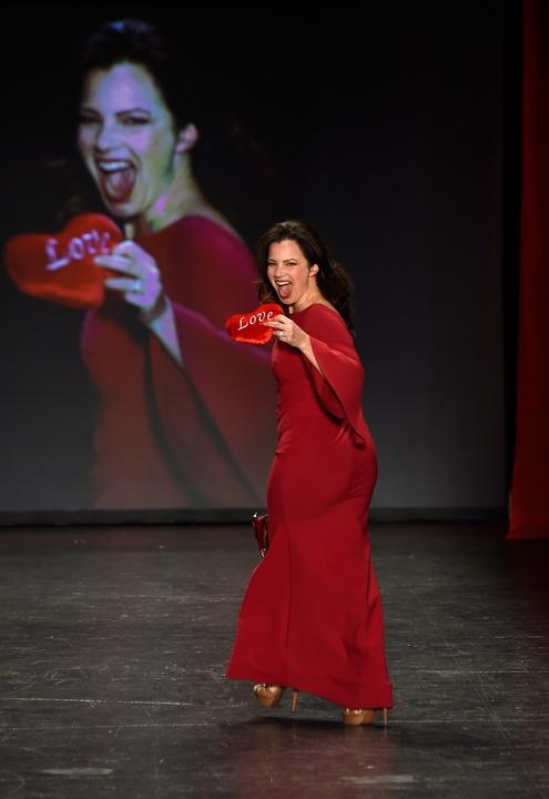 Fran Drescher at American Heart Association's Go Red For Women Red Dress Collection 2016