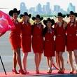 Virgin America flight attendants in Dallas