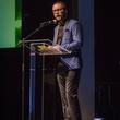 AFW Award show Austin Fashion Week Founder Matt Swinney introduces the Mash Up Team Critic's Choice award