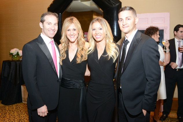 10 Dr. Eric Haas & Courtney Zubowski Haas, from left, Christina Lathrop and Dean Zubowski at the Pink Door Gala November 2014.