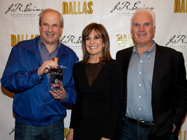 Shelly Stein, Linda Gray and Bennett Glazer , JR Ewing Bourbon launch party