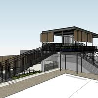 Backbeat bar South Lamar rooftop patio bar rendering December 2015
