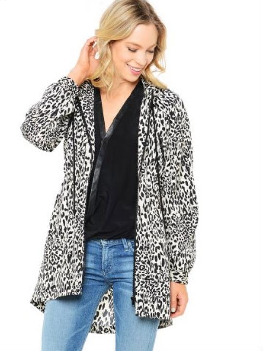 Ali Ro animal print rain jacket