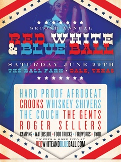 Red White and Blue Ball 2013 poster