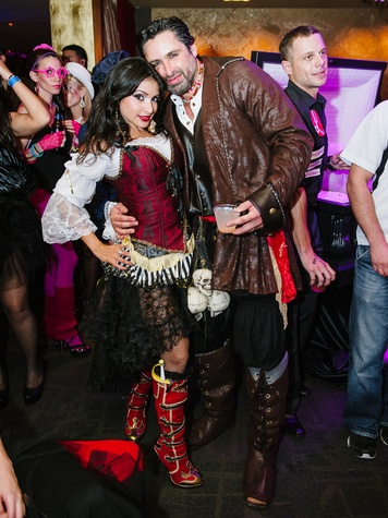 25 Dr. Monica Patel and Imad Khalil at the CultureMap Halloween party at Mr. Peeples October 2013