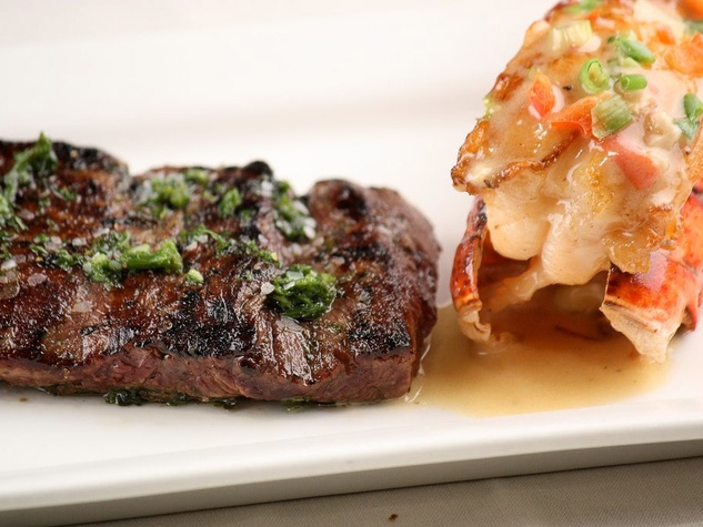 Churrascos Churrasco Steak signature center cut beef tenderlion seasoned with chimichurri and chargrilled